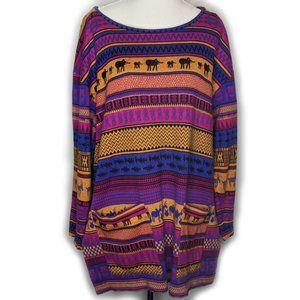 Adele Palmer woven jumper animal pattern